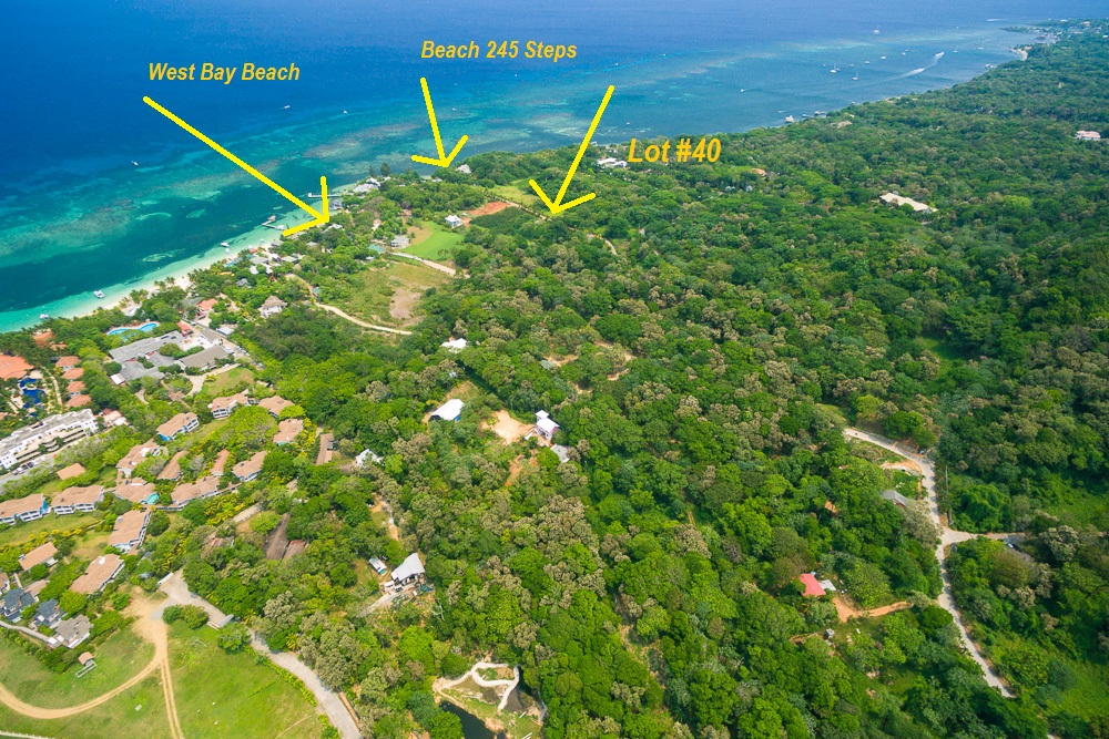 Aerial Location of the Roatan Lot